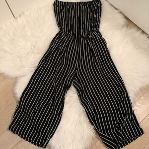 American Eagle Strapless Striped Romper